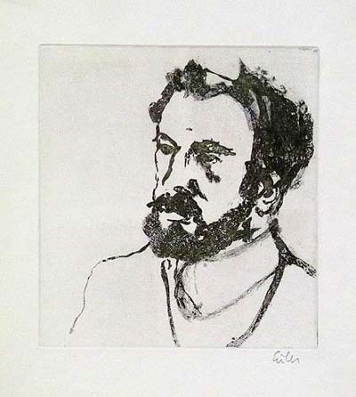 Etching: Men's Portrait