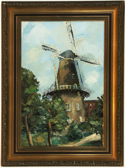 Wall Art: Landscape with Windmill