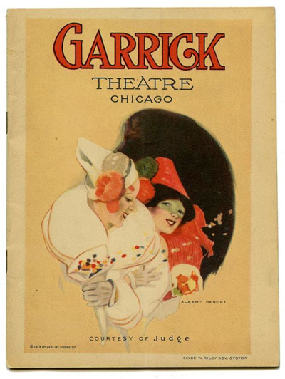 Vintage Garrick Theatre Program