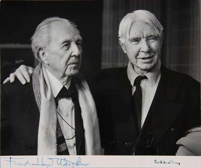Signed Photograph of Frank Lloyd Wright and Carl Sandburg