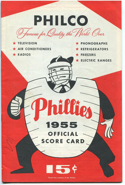 Philadelphia Phillies vs. Chicago Cubs Scored Program