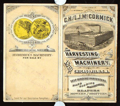 McCormick Harvesting Machinery Ad