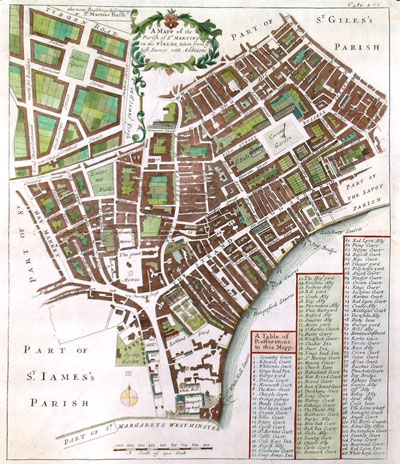 Map of St Martin in the Fields