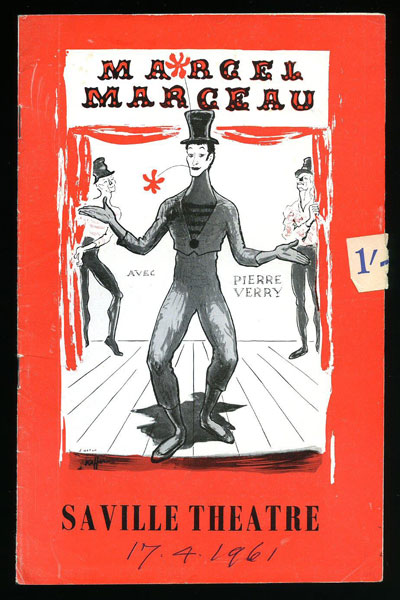 Marcel Marceau Theatre Program