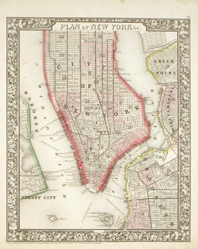 Plan of New York, 1860