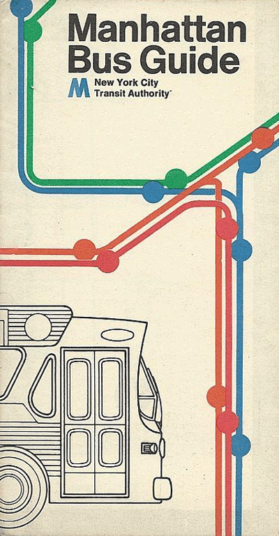 1975 Manhattan Bus Guide