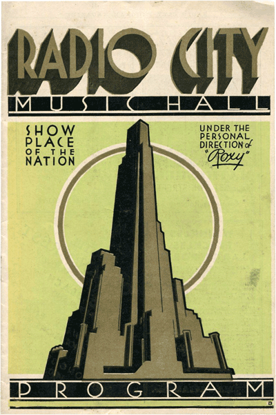 Radio City Music Hall Program 1933