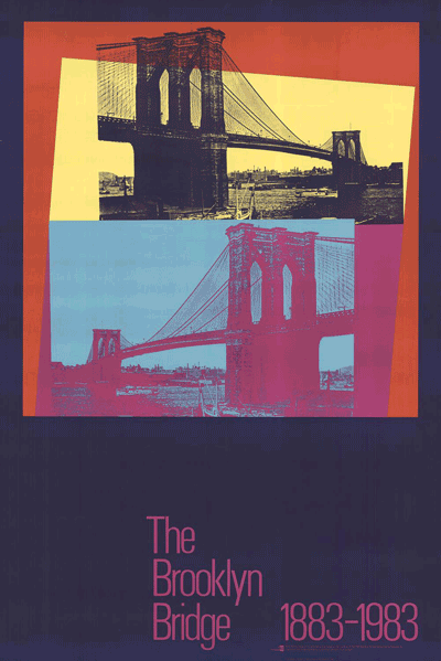 Andy Warhol-Brooklyn Bridge Centennial-1983 Poster