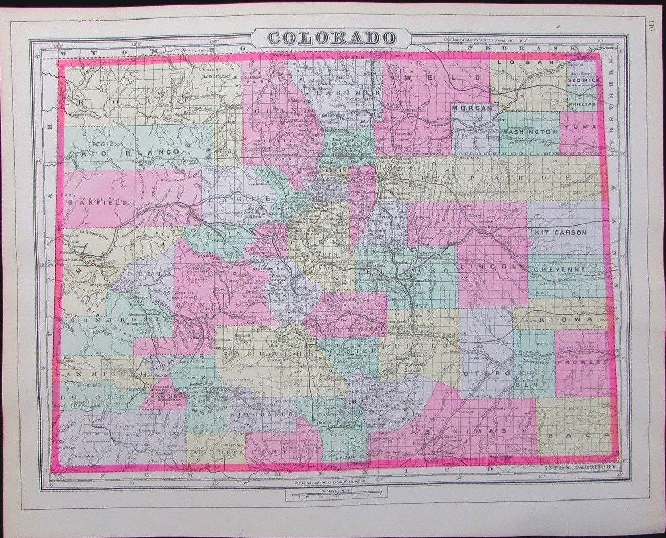 Early Map of Colorado 1894