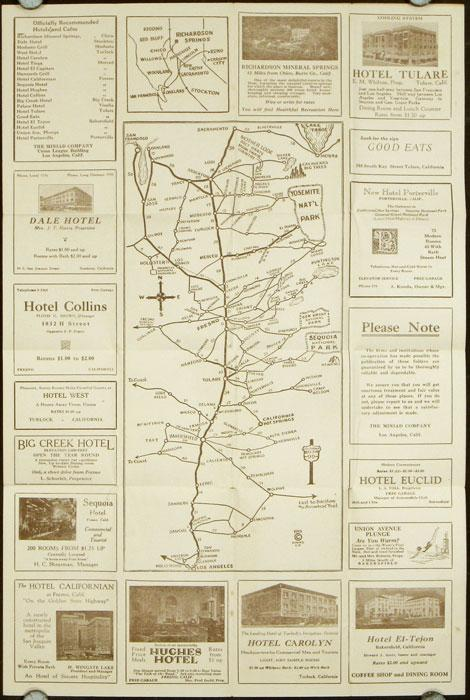 Golden State Highway Map 1928
