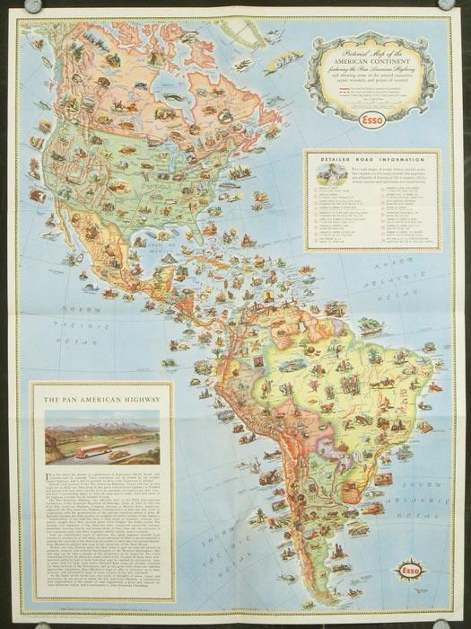 Pictorial Map of the Americas