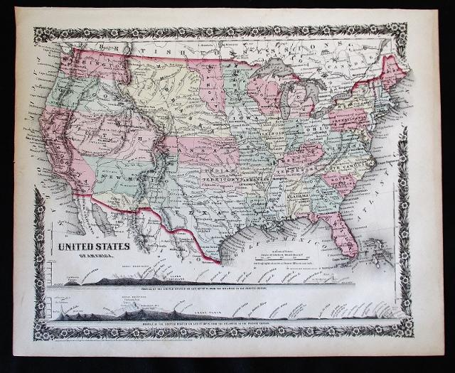 Map of USA 1859