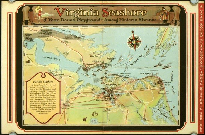 Map of Virginia Seashore 1930