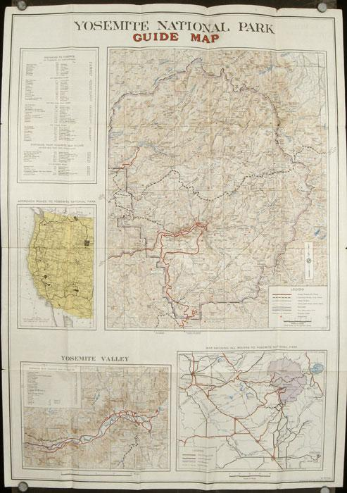 Guide Map to Yosemite National Park 1936