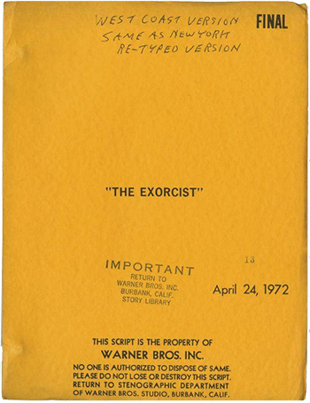 Screenplay: The Exorcist