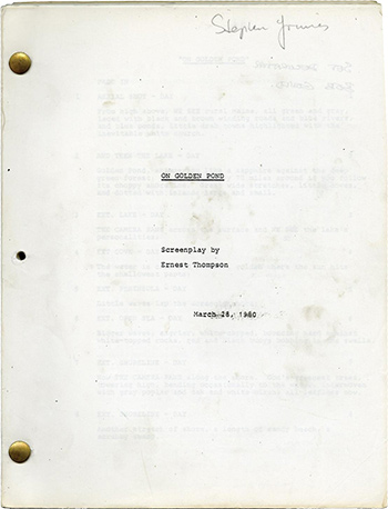 Screenplay: On Golden Pond