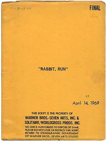 Screenplay: Rabbit, Run