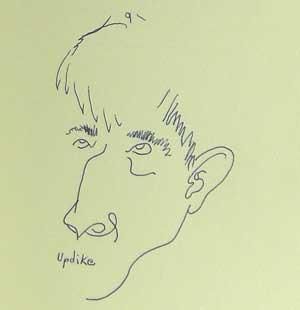 John Updike, self-portrait