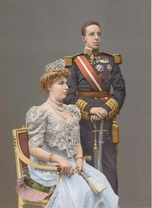 Spain's Alfonso XIII & Queen Victoria Eugenia