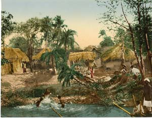 Bengal village in Calcutta