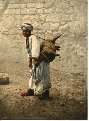 Water carrier in Jerusalem