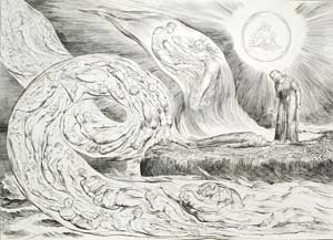 William Blake illustration from Dante's Inferno
