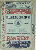 Salt Lake Telephone Directory, Spring 1923