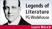 Read our second featured Legend of Literature - PG Wodehouse