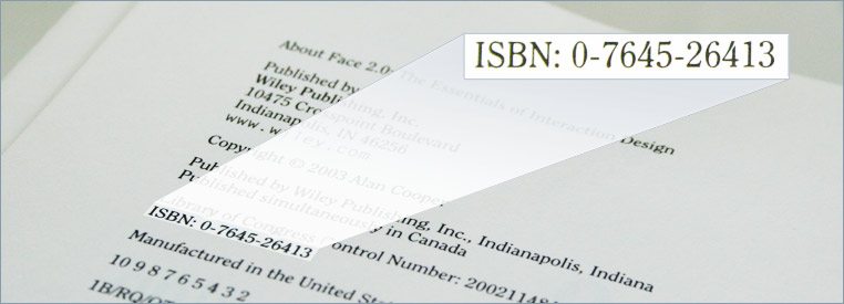 Example of an ISBN on the copyright page.