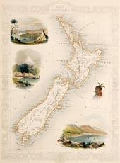 New Zealand by J. Rapkin 1851