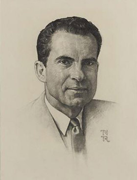 Richard Nixon by Norman Rockwell