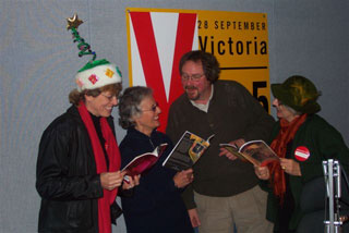 Susan Stenson, Wendy Morton and Isa Milman with David Grierson