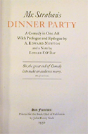 Mr Strahan�s Dinner Party by Edward A Newton