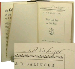 The Catcher in the Rye, signed by J.D. Salinger