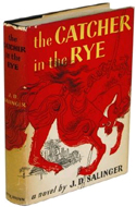 a hard cover first edition copy of The Catcher in the Rye in dust jacket