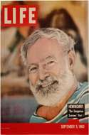 Life magazine, 1960, promoting the first appearance of Hemingway's The Dangerous Summer