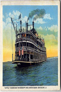 Postcard of The Steamship Dorothy Bradford, Boston to Provincetown and Return Daily.