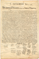 1833 copy of the Declaration of Independence - copperplate engraving on wove paper.