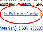 Ask Bookseller a Question