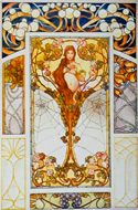 Art Nouveau Stained-Glass Window Designs by Erhard Remmert