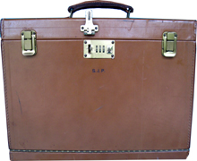 S.J. Perelman's Original Personal Traveling Leather Briefcase and Writing Desk - sold for $3,000