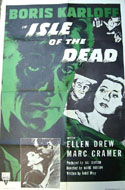 Isle of the Dead and other 1950s movie posters