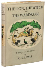 The Lion, The Witch and the Wardrobe by C.S. Lewis.  A set of all seven first edition volumes of the Narnia books made for our second most expensive sale of December, 2009