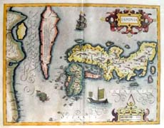 Antique Map of Japan - 1606