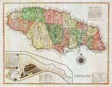 A New Map of Jamaica - 1771