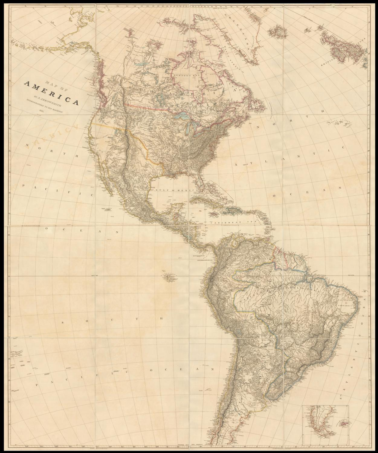 Map of America - 1822