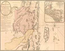 A Map of Part of Yucatan Part of the Eastern Shore within the Bay of Honduras - 1787