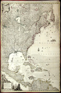 A New Map of the British Empire in America - 1740