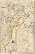 Map Of Eastern Colonial Canada And United States 1755