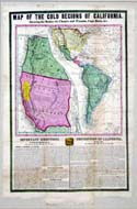 Map of the Gold Regions of California - 1849